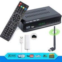 Koqit HD AC3 DVB-S2 Receptor Digital Satellite Receiver TV Tuner m3u IPTV Combo USB Wifi RJ45 Lan Youtube IKS CS Cline VU Biss