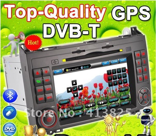 "For 7"" BENZ Mercedes Car DVD GPS DVB-T Sprinter Viano Vito A B Classe Radio Navi bluetooth USB SD 6CDC for Ipod iphone"