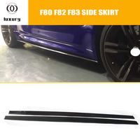 M3 M4 Carbon Fiber Side Bumper Skirt for BMW F80 M3 F82 F83 M4 2012 2017 Auto Racing Car Styling Side Skirts Bodykit