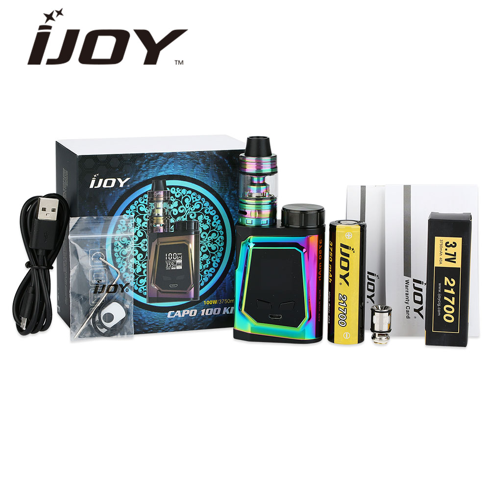 Originale 100 W IJOY CAPO 100 Vape Kit con 3.2 ml Capitano Mini SUBOHM Tank & 3750 mAh 21700 Batteria e-sigaretta Kit VS alien