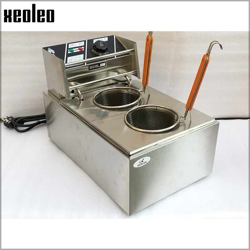 XEOLEO Double Baskets Pasta cooker 2500W Noodle Cooker Stainless steel Electric Noodle Cooking stove Double pots Boiler machine free shipping electric table type noodles cooking machine with ce pasta cooker