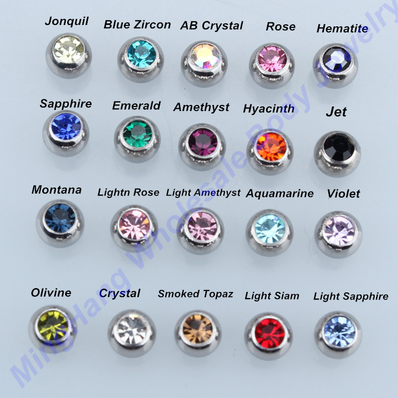 14g czech crystal ball barbell tongue nipple