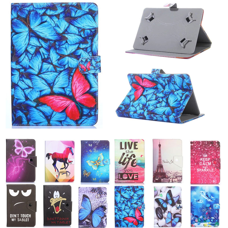 Universal Cover For Lenovo TAB4 Tab <font><b>4</b></font> 10 X304L TB-X304F TB-X304N <font><b>10.1</b></font> inch Tablet Printed PU Leather Stand Case image