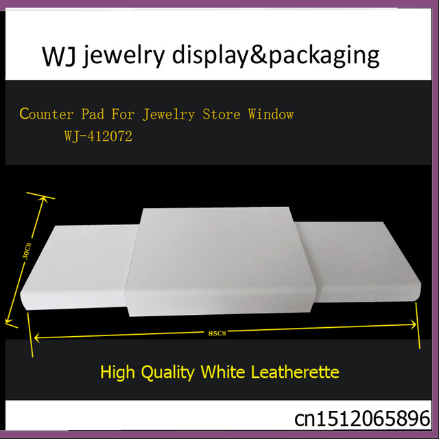 Portable White PU Leatherette Base Tray Jewellery Set Showcase Stand Accessories Kit Holder Organizer Jewelry Display Rack Case