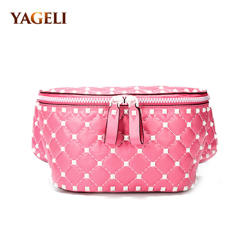 2018 INS HOT genuine leather women waist bags luxury brand design lady chest bags fashion cow leather women crossbody bags