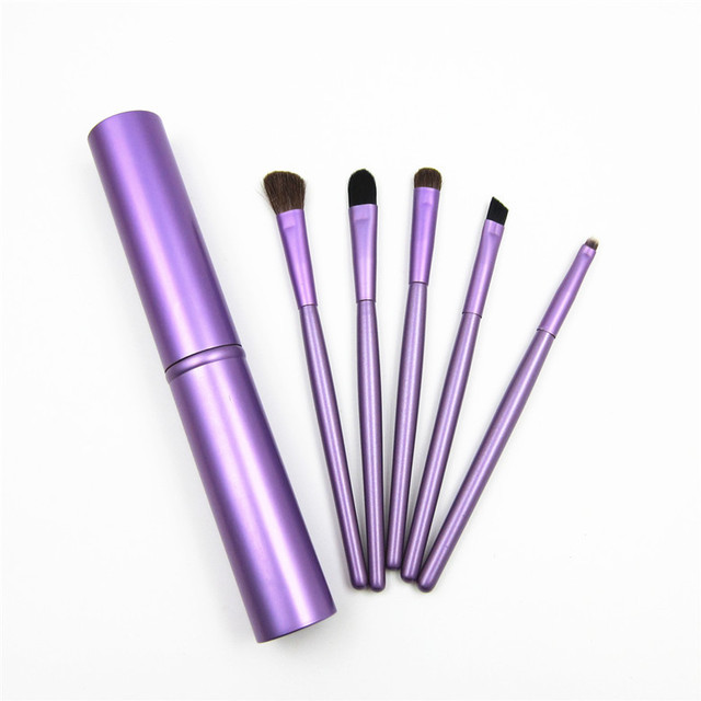 5pcs Travel Portable Mini Eye Makeup Brushes Set Reals Eyeshadow Eyeliner Eyebrow Brush Lip Make Up Brushes kit Professional 4