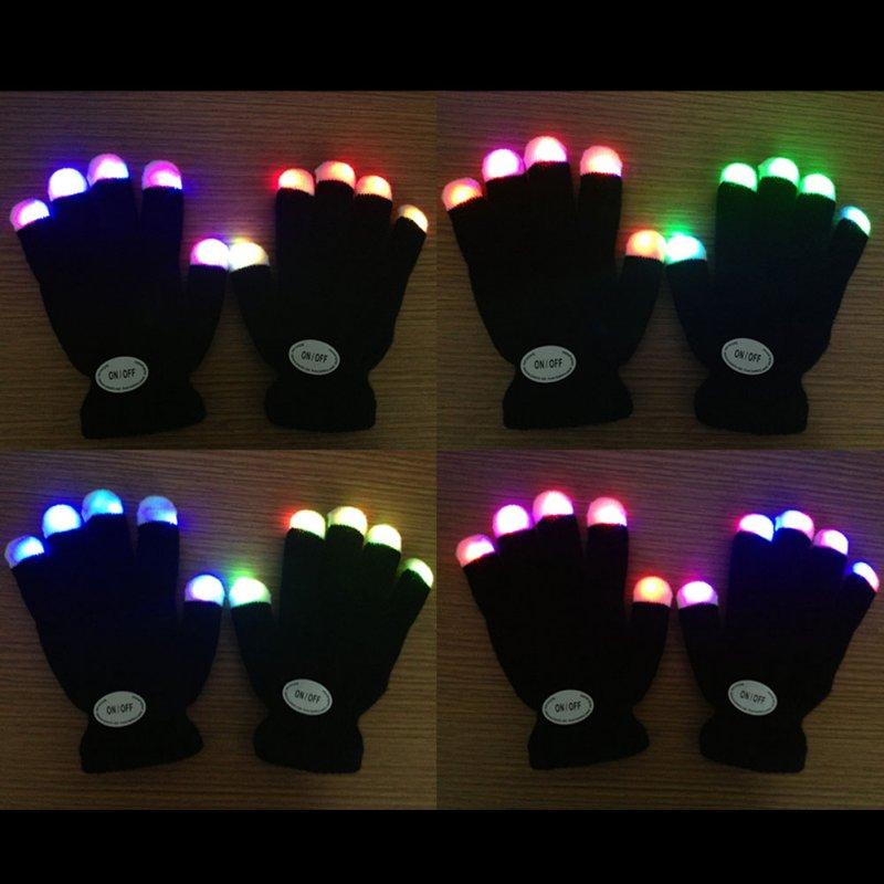 Apparel Accessories Gants Femme Sexy Kids Fingertip Led Gloves Rainbow Flash Light Glow Stick Gloves Mittens