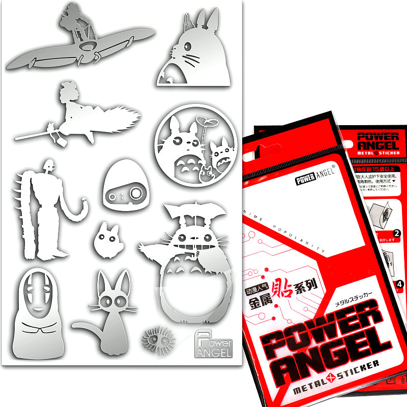 PowerAngel Classic Anime My Neighbor Totoro 3D Metal Stickers For Phone Laptop Car Fridge Decal Sticker