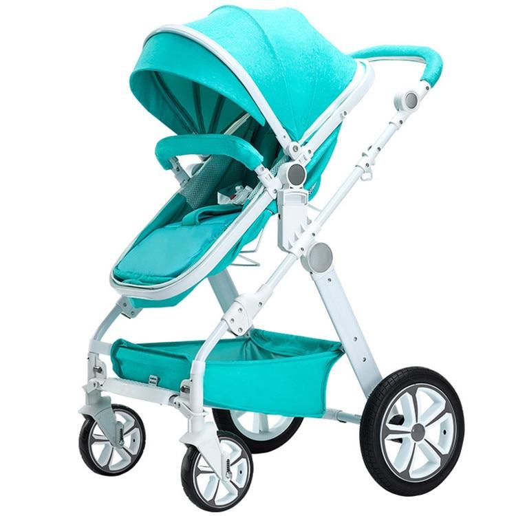 Four Wheels Stroller Baby stroller high sitting baby folding bike Baby Stroller