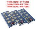 TNMG220404-UF YG801/TNMG220408-UG YG801/TNMG220412-UR YG801 Корея YG CNC поворотные твердосплавные вкладыши для стали  нержавеющей стали