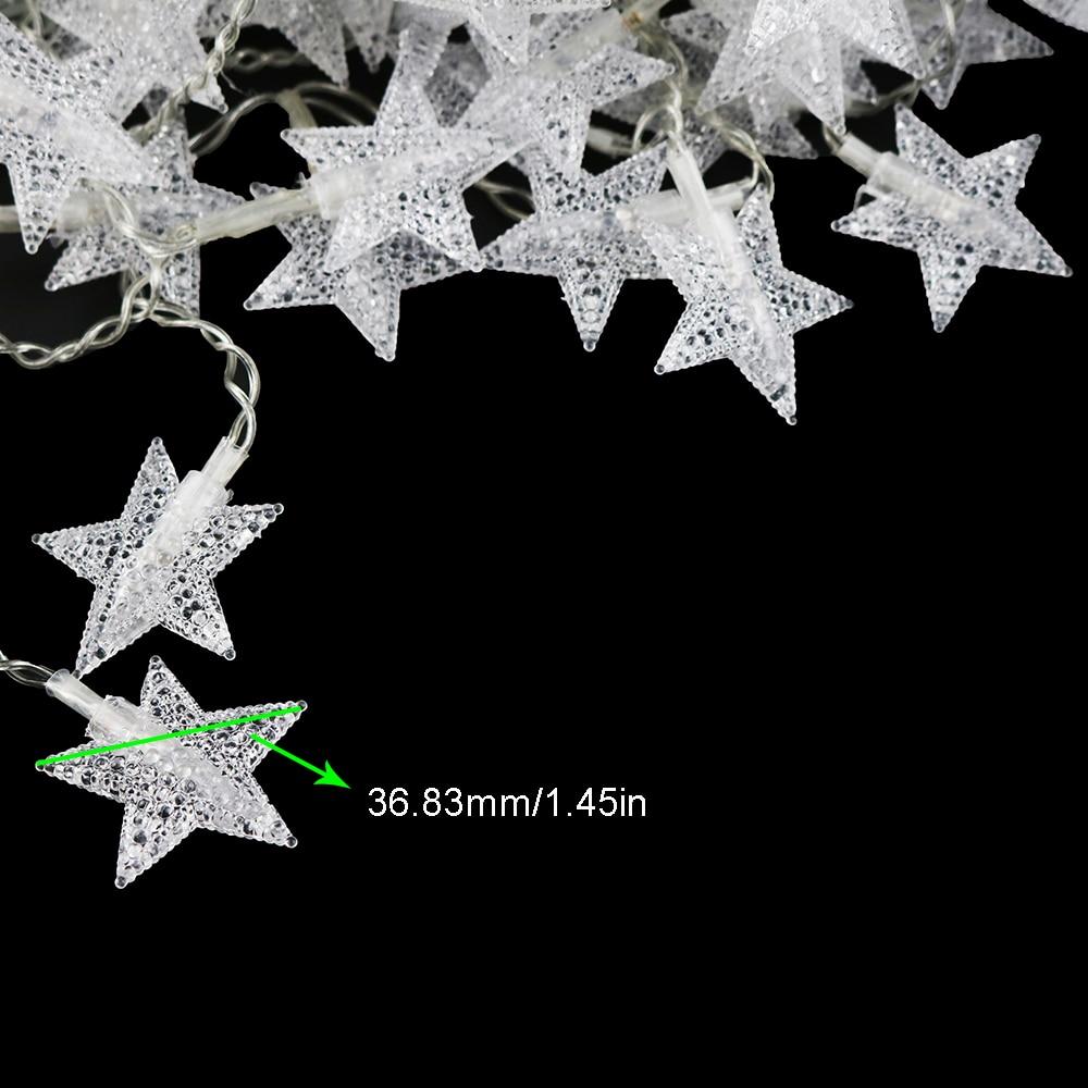 10–40 csillag Led string könnyű 1M-3M hosszúságú szalag - Üdülési világítás - Fénykép 6
