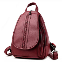 HOT 2015 Fashion Women Backpack College Style Pu Leather Backpack 5 Colors Women Travel Bag School