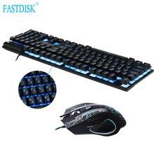 FastDisk Русский/Английский 3 цвета Подсветка Gaming Keyboard Teclado геймер плавающий подсветкой USB аналогичные с мышки
