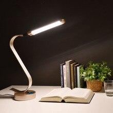 Super Bright LED Desk Lamp 15W Slide Control Metal Table Lamp 6-level Brightness 6 Color Modes Adjustable Reading Lights