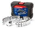 "Workpro soquetes conjunto de 24 pc conjunto de ferramentas de reparo do carro chave de torque 3/8 ""catraca punho"