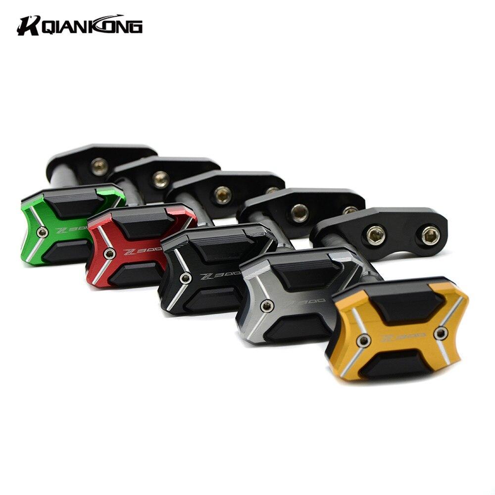 For KAWASAKI Z300 2013 2014 2015 2016 Motorcycle Frame Crash Pads Engine Case Sliders Protector