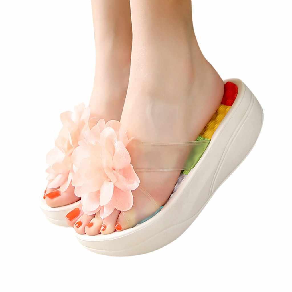 af6f2c9db911 YOUYEDIAN platform sandals women summer open toe Flip Flops Slippers  Sandals Swing Wedge Women Hole Shoes