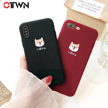 Ottwn Cute Cartoon Phone Cases For iphone X 6 6S 7 8 Plus Soft TPU Back Cover Kawaii Shiba Inu Pattern