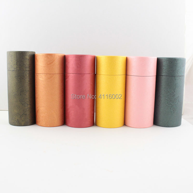 500pcs 10ml Essential Oil Bottle Kraft Paper Packaging Cardboard Tube Jewelry Cosmetics Gifts Packing Box