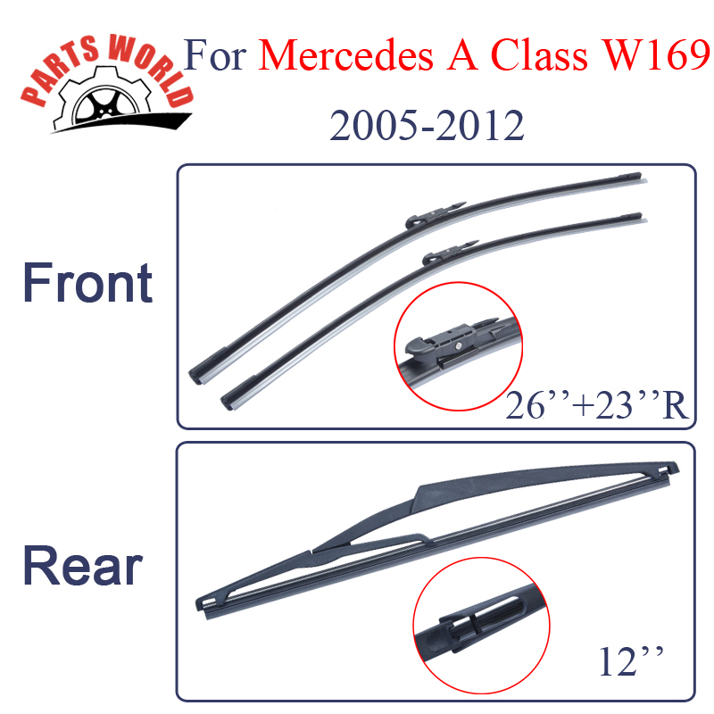 Combo Silicone Rubber Front And Rear Wiper Blades For