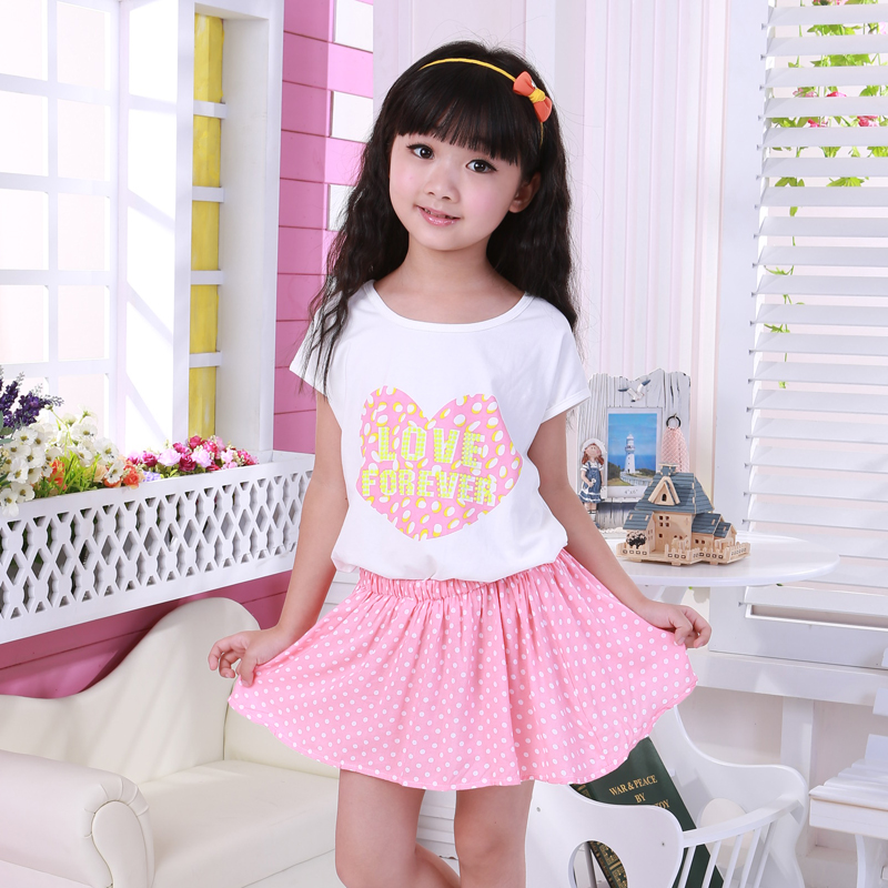 2 12 Year Old New 2014 Short Sleeve Girl Dress Casual Summer Princess Dress Plus Size -1865