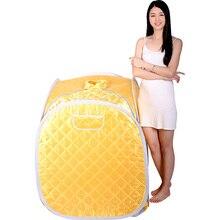 Portable Personal Folding Home Steam Sauna Therapeutic Steam Sauna Spa Head Cover Full Body Slim Detox Weight Loss Machine Blue