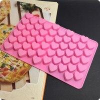 Gratis verzending 3d siliconen 55 hartvormige bakvorm fondant cake tool chocolade candy cookies pastry soap mould groothandel