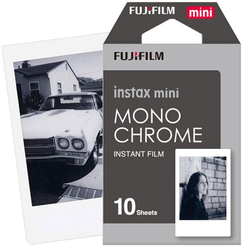 Nuevo Fuji Fujifilm Instax Mini 9 película instantánea papel fotográfico monocromo 10 unids para Mini 8 7 s 7 50 s 50i 90 25 dw Share SP-1 cámaras