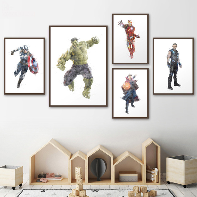 Wall Art Print Canvas Painting Marvel Superhero Nordic Posters Prints Pictures Living Room
