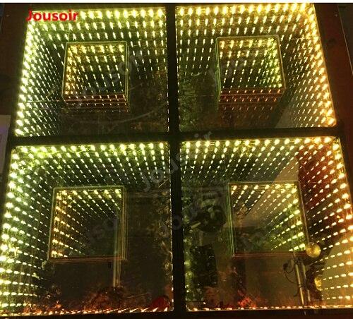 Бесплатная доставка (6 шт./лот) RGB полный Цвет CE Wi Fi Управление Led бесконечность зеркало 3d Led танцпол CD15 T03