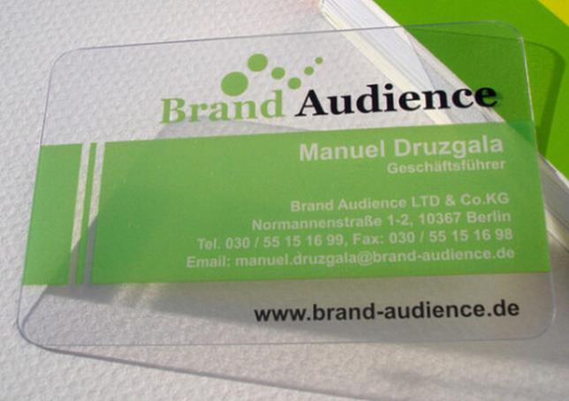 Good Quality Clear Card Plastic Business Card Printing On Single Side Glossy Faces