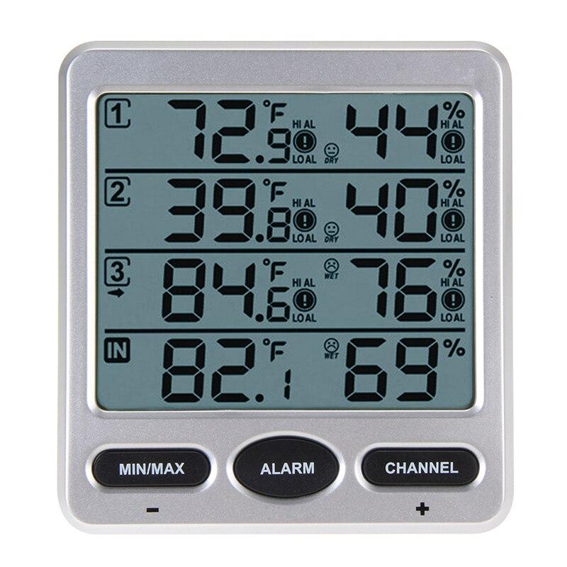 Оригинальный WS-10 окружающей среды погода Беспроводной ЖК дисплей Цифровой термометр Влажность Indoor/Outdoor 8 канальный Термо гигрометр