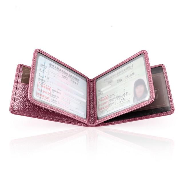 Zor Dany Grain Leather Drivers License Leather Cover nan nv Drivers License Card Holder duo ka wei xing shi zheng tao Manufact