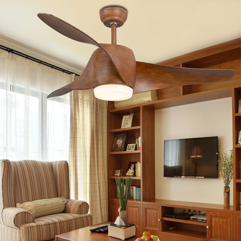 Vintage Loft Fan med lys og fjernbetjening Retro Room Loft Fan Moderne Black Ceiling Fan 52 tommer