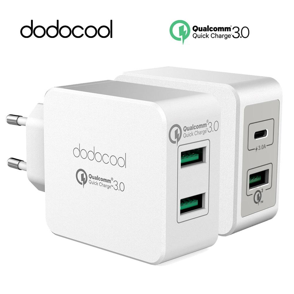 imágenes para Dodocool Carga Rápida rápida 3.0 Puertos USB Cargador de Pared Adaptador de Corriente tipo-c usb cargador para Samsung xiaomi huawei meizu Letv