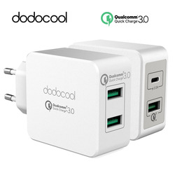 dodocool fast Quick Charge 3.0 2-Port USB Wall Charger Power Adapter type-c usb charger for Samsung xiaomi huawei meizu Letv