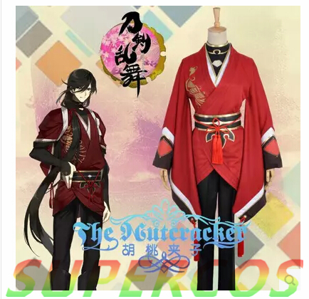 Free Shipping! Touken Ranbu Online Izuminokami Kanesada Kimono Cosplay Costume ,Perfect Customized For you!