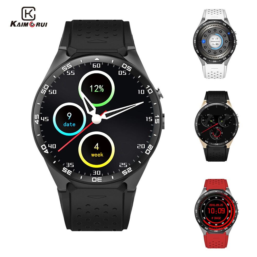 Kaimorui KW88 Smart Uhr Android 5.1 MTK6580 Quad Core 1,3 ghz 1,39 zoll 512 mb + 4 gb Smartwatch SIM Karte GPS WiFi Anruf Erinnerung