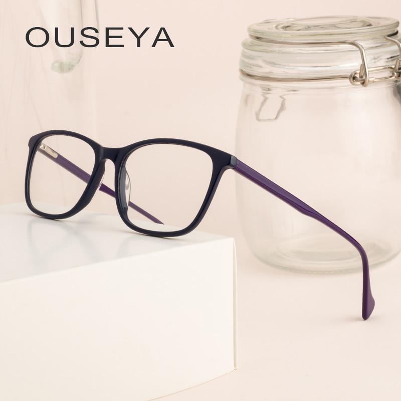 Acetat Frauen Brillen Rezept Mode Casual Für Anblick Klar Grade Retro Vintage Rahmen Für Brillen Frauen # Cb3995 Diversifiziert In Der Verpackung