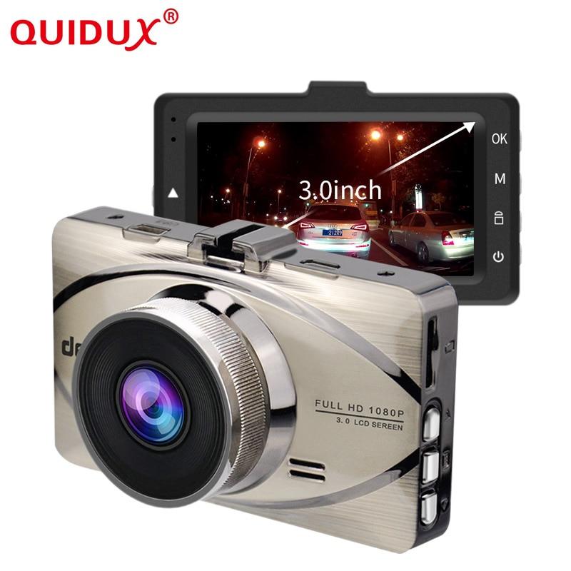QUIDUX Novatek 96655 Car DVR Car Camera Dash cam 3 inch 1080P 170 Degree Wide Angle Video Registrator G-sensor Night Vision