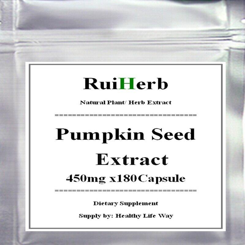 ФОТО 1Pack Pumpkin Seed Extract Capsule 450mg x 180pcs free shipping