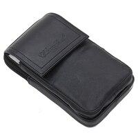New Men Natural Leather Hook Fanny Waist Pack Bag Bum Hip Belt Pack Coin Purse Male