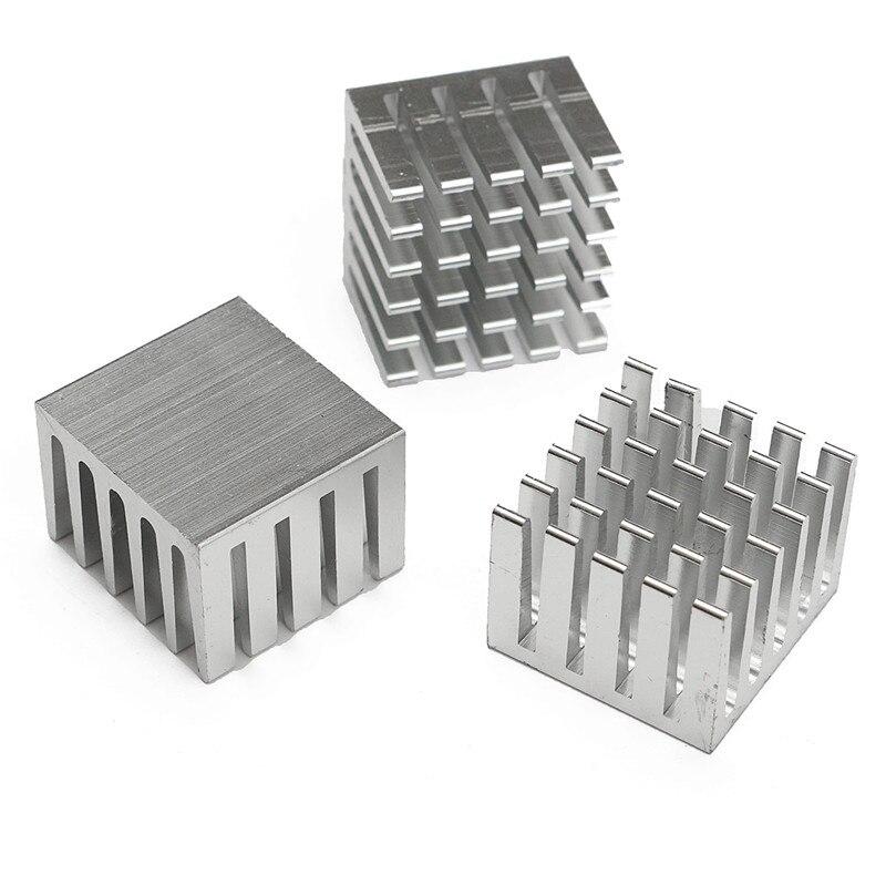 5Pcs//Set 20x20x15mm Cooling Heatsink CPU GPU IC Chip Aluminum Heat Sink Radiator
