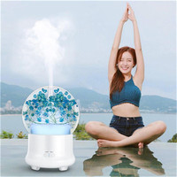 7 Color Change LED Night Light Dried Flower LED Ultrasonic Air Humidifier Oil Aroma Diffuser Fragrance