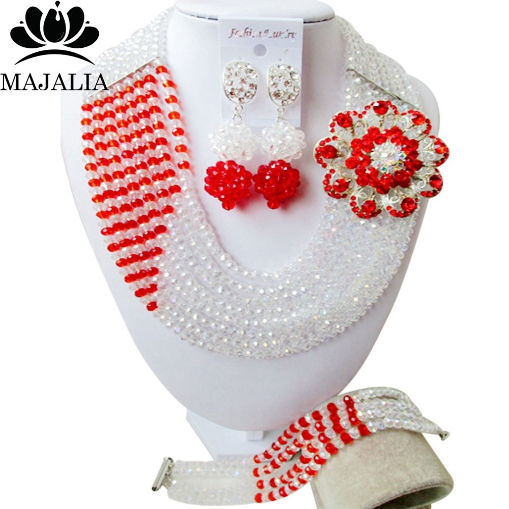 Fashion african jewelry set Clear AB nigerian wedding african beads jewelry set Crystal Free shipping Majalia-407Fashion african jewelry set Clear AB nigerian wedding african beads jewelry set Crystal Free shipping Majalia-407