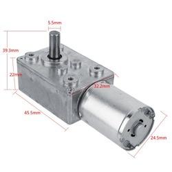 Worm Gear Motor DC 12V Motor High Torque Worm Geared Motor Reduction Motor 5RPM Worm Reversible Load torque