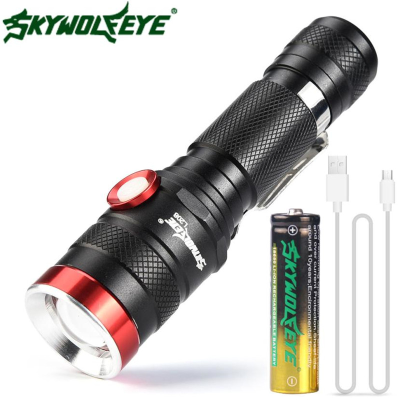 flashlight on Bicycle Shadowhawk 5 Modes XM-L T6 LED 18650 Powerful Torch Police Flashlight Lamp Bicycle Accessories #2