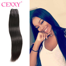 Cexxy Straight Raw Indian Virgin Hair Weave Bundles Natural Color Human Hair Extension 1PC/3PC Free Shipping(China)