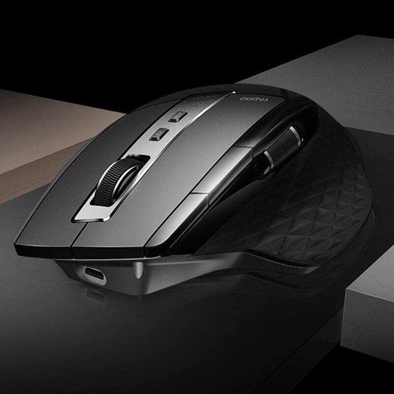 Nuovo Rapoo MT750s Ricaricabile Multi modalità di Interruttore Del Mouse Senza Fili tra Bluetooth 3.0/4.0 e 2.4G per Quattro dispositivi di Connessione-in Mouse da Computer e ufficio su AliExpress - 11.11_Doppio 11Giorno dei single 1