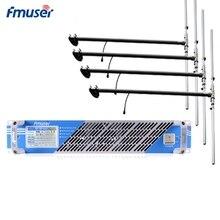 FMUSER FSN-600T 600 W 500 W Сенсорный экран PLL fm-радиопередатчик трансляции+ 4* DP100 дипольная антенна+ возможностью погружения на глубину до 30 м кабель для Радиостанция FM